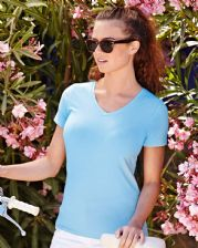 61382 Fruit Of The Loom Lady-Fit V-Neck T-Shirt